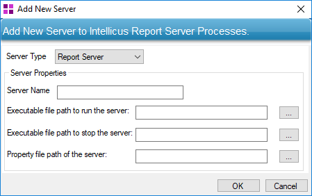 Add New Server dialog