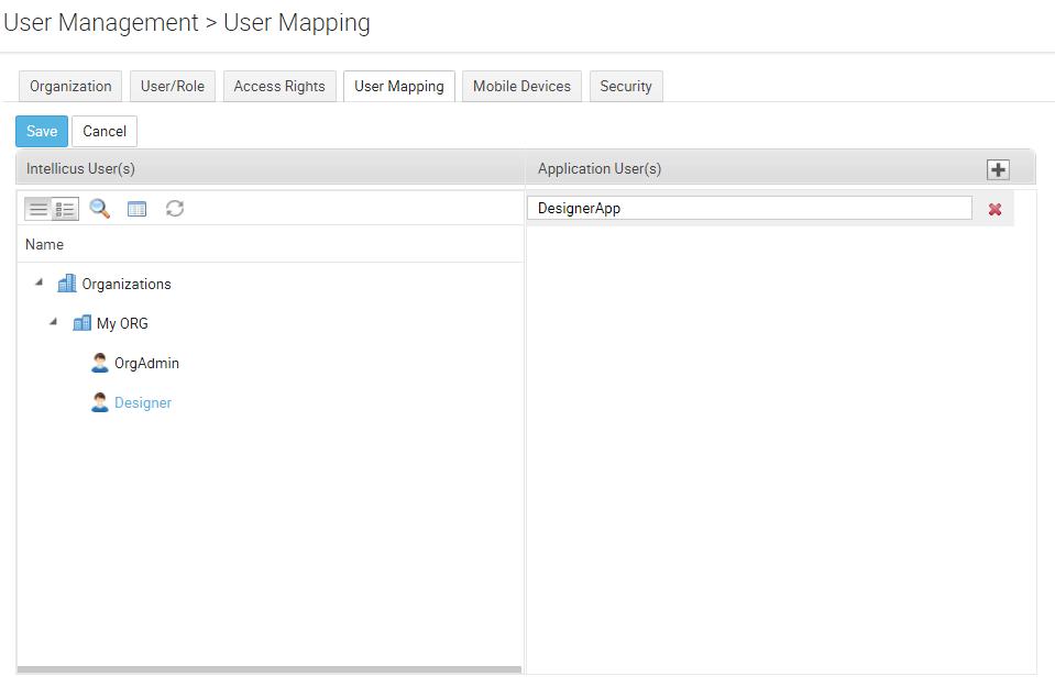 add user mapping