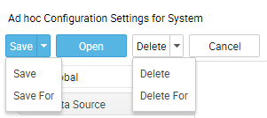 Configuration page buttons