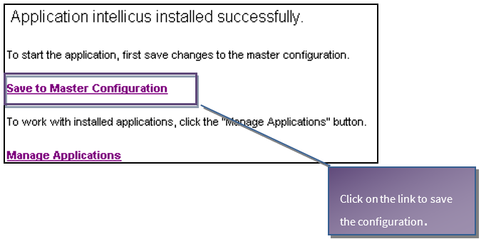 Master Configuration link