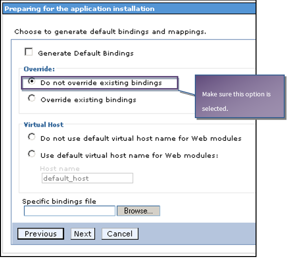 Default binding and mappings