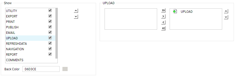 upload buttons