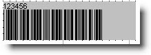 Barcode control caption