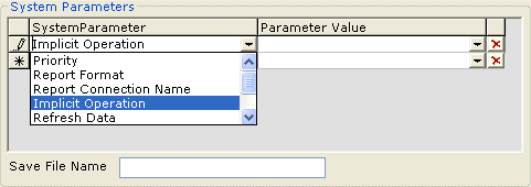 System parameters area