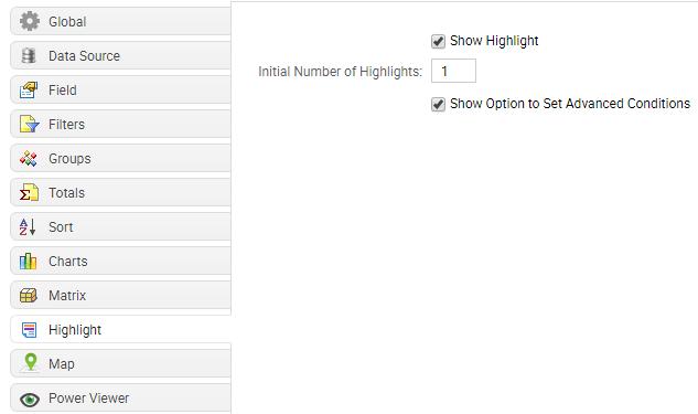 Highlight tab