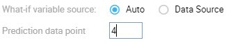 Auto in What-if variable source