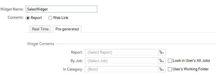 pre-generated report
