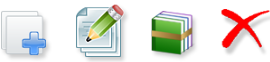 toolbar icons on schedule page
