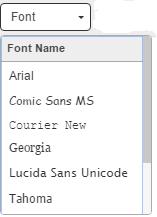 change typeface