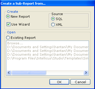 Create a Sub-Report from