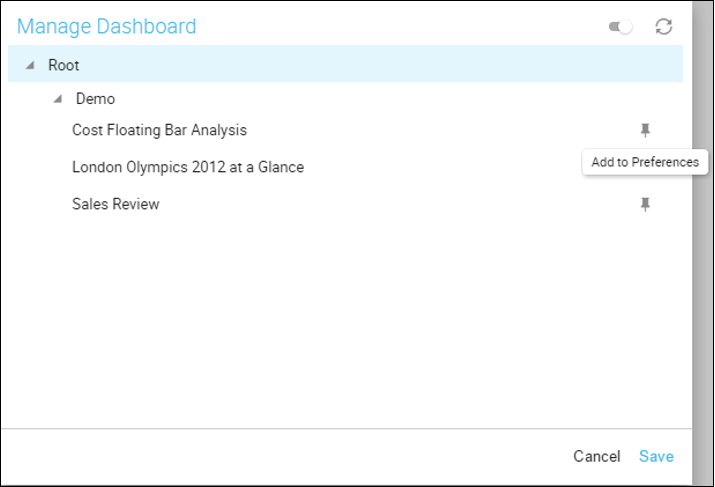 Manage Dashboard