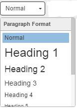 predifened formattingt