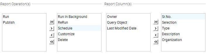 Report Operation(s)/Column(s)