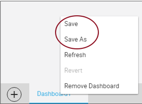 Save Dashboard
