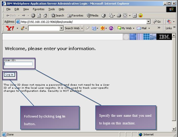 login information