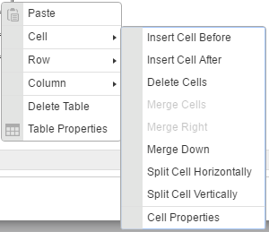 cell properties dialog