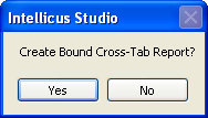 bound or unbound cross tab