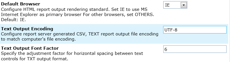 Text Output Encoding