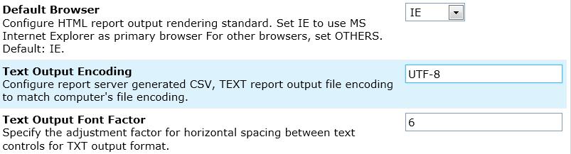 Text Output Encoding
