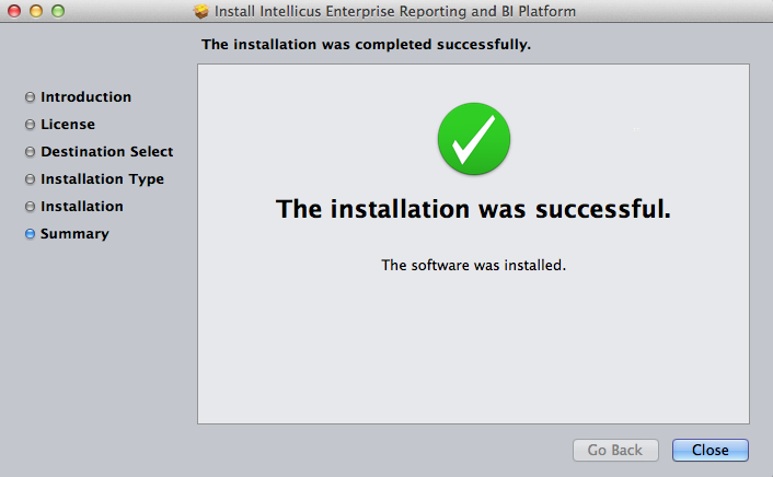 Install Summary Screen