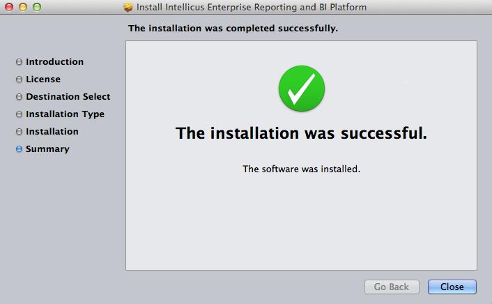 Install Summary Screen