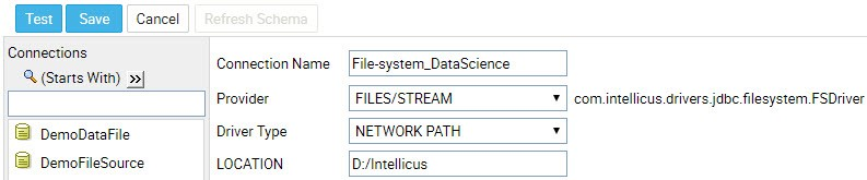 file system connection