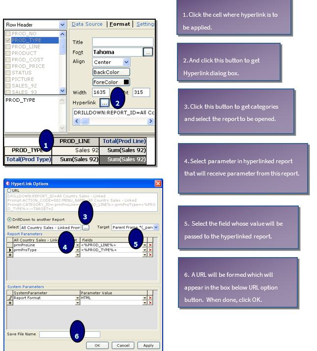 hyperlink in cross-tab
