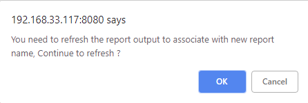 refresh the report