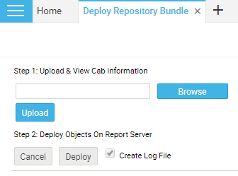 Deploying the CAB file