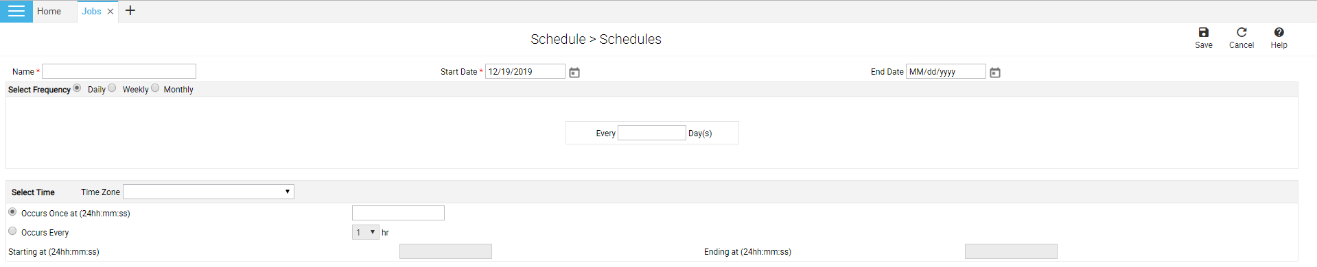 Add schedule page