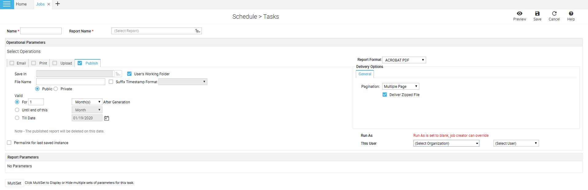 Add task page