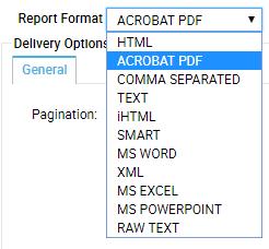 Selecting report format