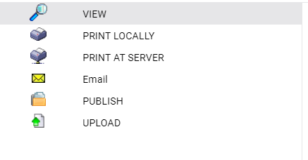Output options for Standard Reports
