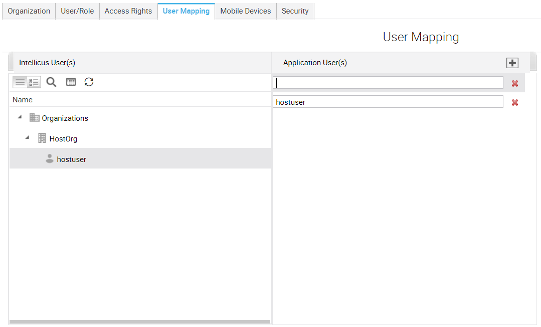 add user mapping