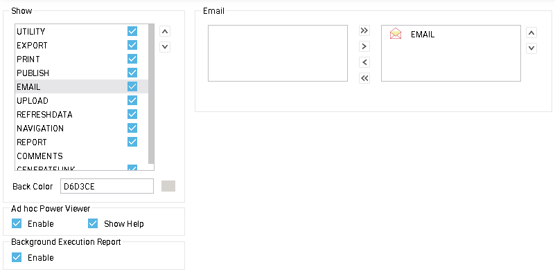 Email tool buttons
