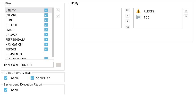 utilities tool buttons