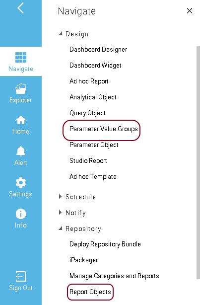 Parameter Value Groups